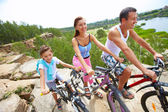 Mountain cyclists — Stock Photo