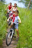 サイクリングの息子 — ストック写真