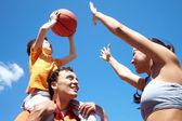 Playing basketball — Stock Photo