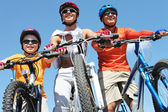 Family of cyclists — Stockfoto
