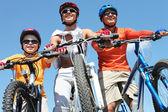 Rodina cyklistů — Stock fotografie