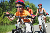 Young bicyclist — Stock Photo