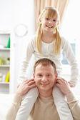 Vader en dochter — Stockfoto