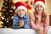 Jul barn — Stockfoto