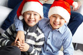 Little Santas — Stock Photo