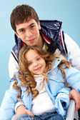 Man met dochter — Stockfoto