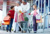 Consumers walking — Stock Photo
