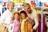 Happy customers — Stock Photo