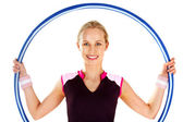 Woman with a hoop — Stock Photo