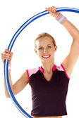 Twirling a hoop — Stock Photo