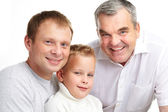 Three males — Stock Photo