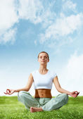 Meditating girl — Stock Photo