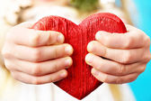 Hands and heart — Stock Photo