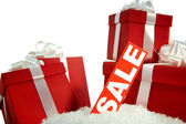 Christmas sale and gifts — Stock Photo