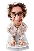 Pracownik biurowy entuzjastycznie — Zdjęcie stockowe
