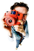 Funny photographer — Stock Photo