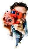 Funny photographer — Stock Photo