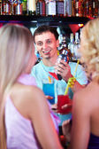 Happy barman — Stock Photo