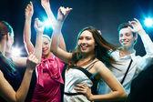 Energetic dancers — Stock Photo