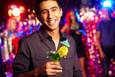 Guy with cocktail — Stock Photo