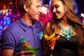 Amorous clubbers — Stock Photo