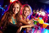 Girl in bar — Stock Photo
