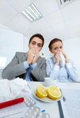 Sick businesspeople — Stock Photo