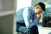 Businessman in trouble — Stock Photo