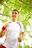 Outdoor jogging — Stock Photo