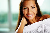 Woman smiling — Stock Photo