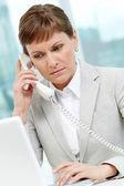 Mujer llamada — Foto de Stock