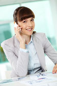 Calling businesswoman — Stock Photo