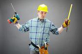 Hombre con herramientas — Foto de Stock