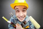 Happy handyman — Stock Photo