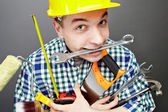 Repairman with tools — Foto de Stock