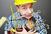Reparador con herramientas — Foto de Stock