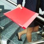 Secretary with folder — Stock Photo #11670198