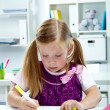 Girl drawing — Stock Photo #11670614