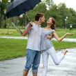 Stock Photo: In the rain