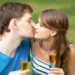 Stock Photo: Romantic kiss
