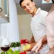 Cooking salad — Stock Photo