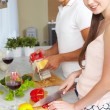Cooking couple — Stock Photo #11670972