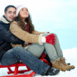 Love in winter - Stock Photo