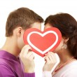 Valentines kissing — Stock Photo