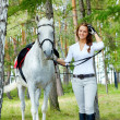 Girl and horse - Foto de Stock