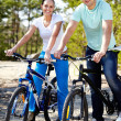 Royalty-Free Stock Photo: Couple of cyclists