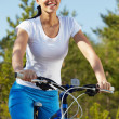 Riding a bicycle — Stock Photo