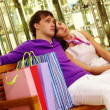 Постер, плакат: Rest after shopping