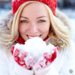 Snow grace — Stock Photo