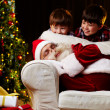 Finding out Santa - Stockfoto